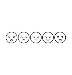 image set of emoticons for rating vector image