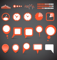 indicators and speech clouds collection vector image vector image