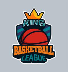 King basketball league badge or sign or emblem vector