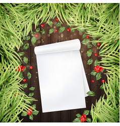 letter to santa christmas decorative template eps vector image