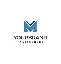 m letter logo design template elements vector image