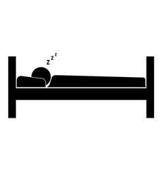 man sleeping the black color icon vector image