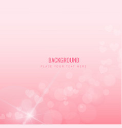 mini shining pink hearts pink background im vector image