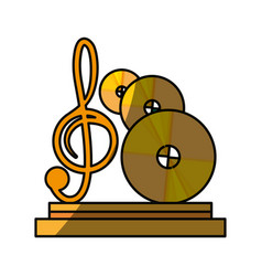 Music trophy award vector
