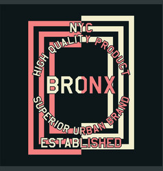 nyc quality product bronx vector image