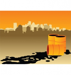oil pollution vector image