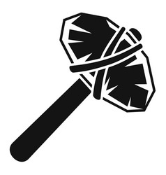 Old stone hammer icon simple style vector