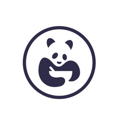 panda food logo icon concept vector image