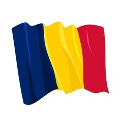 Political waving flag chad vector