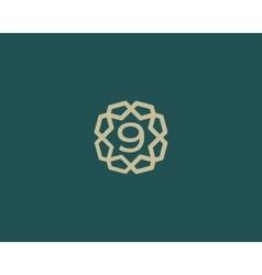 Premium number 9 logo icon design luxury vector