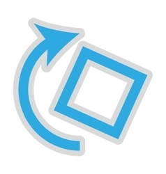 rotate screen button isolated icon design vector image