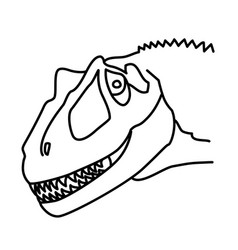 saurophaganax icon doodle hand drawn or black vector image