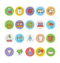 Science and technology colored icons 4 vector
