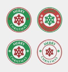 set christmas badges and labels vector image