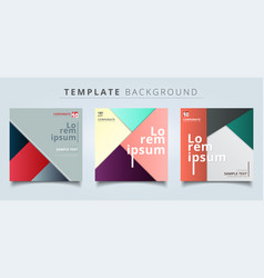 set of abstract geometric layout minimal style vector image