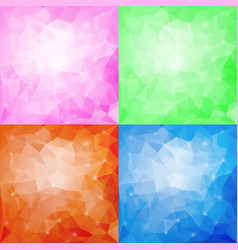 set of four polygonal backgrounds vector image