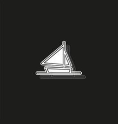ship icon cruise ship - boat sea travel symbol vector image