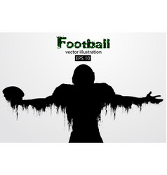 Silhouette of a football player rugby american vector