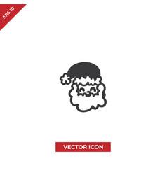 smiling santa claus icon vector image