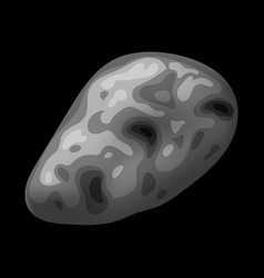 Space stone icon isometric style vector