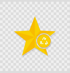 star icon recycle icon vector image