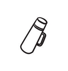 Thermos sketch icon vector
