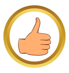 Thumb up gesture icon cartoon style vector