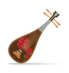 traditional chinese pipa vector image