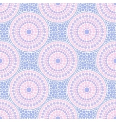 Trendy pink and blue colors dotted circles vector image