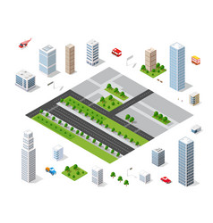 urban area of the city vector image