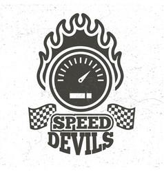 vintage motorbike and motorcycle sport emblem vector image