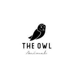 vintage owl bird logo design vector image