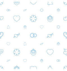 wedding icons pattern seamless white background vector image