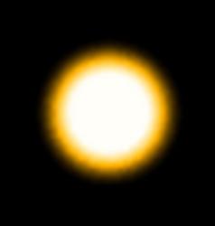 yellow bright light sphere sun eclipse begin vector image