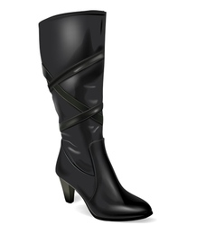 black boot vector image vector image