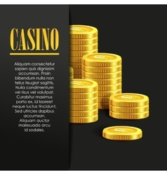 Casino Poster Background or Flyer with Golden vector image vector image