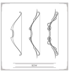 Fantasy Bow Lineart vector image vector image