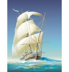 oceangoing ship vector image