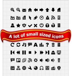 set of small web icons vector image vector image