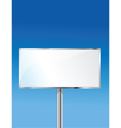Sign with sky background vector image