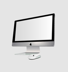 The monitor and PC mouse vector image vector image