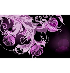 Background of roses vector image