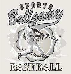 ball game baseball vector image
