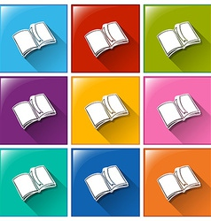 Buttons with notebooks vector image