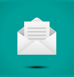 open envelope for letter vector image vector image