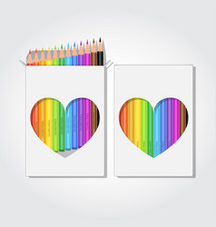 12 pencils box vector image
