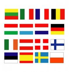 European continental flag vector image vector image