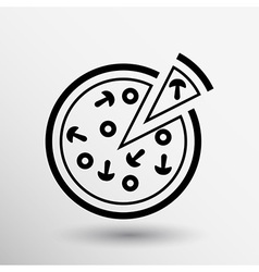 handmade pizza logo concept food vector image