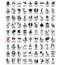 public information sign collection vector image vector image