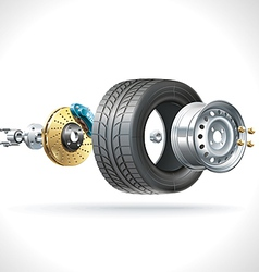 Wheel Parts vector image vector image